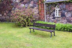Bench for meditation Royalty Free Stock Photos