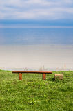 Bench for Meditation on Seacoast Stock Images