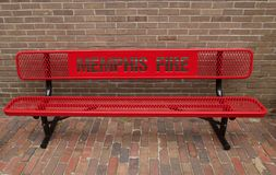 Bench at The Memphis Firefighter Museum Royalty Free Stock Photo