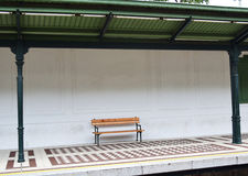 Bench at metro station Royalty Free Stock Photos
