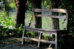 Bench missing you stock images