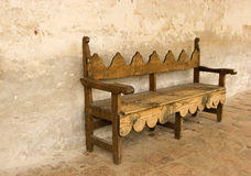 Bench at Mission San Juan Capi. Old bench at Mission San Juan Capistrano in California Royalty Free Stock Photos