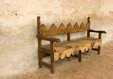 Bench at Mission San Juan Capi royalty free stock photos