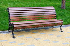 Bench In Moscow Stock Image