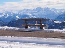 Bench on Mount Rigi, Switzerland Stock Images