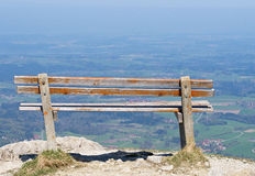 Bench on mountain Royalty Free Stock Photos