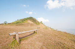 Bench with Mountain Stock Image