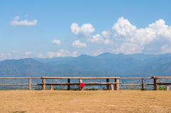 Bench on the mountian at Pai, Chiang mai, Thailand. Stock Images