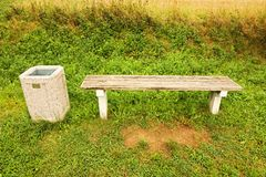 Bench in nature Stock Photography