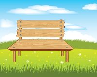Bench on nature Royalty Free Stock Photos