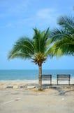 Bench near beach Royalty Free Stock Photo