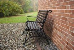 Bench near the house Stock Photo