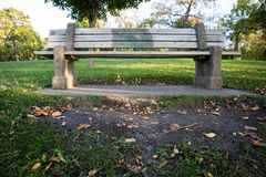 Bench near the lake. Sunset in front of the lake with a bench royalty free stock images