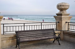 Bench near sea Royalty Free Stock Photography