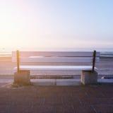 Bench near the sea Stock Photos