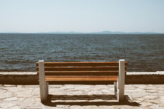 Bench near sea Royalty Free Stock Images