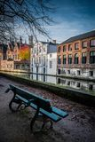 Bench nera canal Royalty Free Stock Photo
