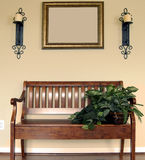 Bench in New Home. Bench against wall in new home Royalty Free Stock Photos
