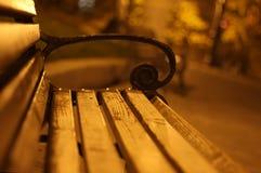 Bench at night Stock Photo
