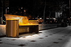 Bench at Night Royalty Free Stock Image