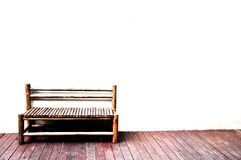 Bench with nobody Royalty Free Stock Photo