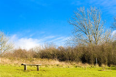 Bench on the North Downs Stock Photo