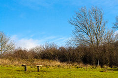 Bench on the North Downs Royalty Free Stock Photos