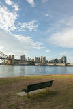 Bench in North Sydney park Royalty Free Stock Photography