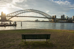 Bench in North Sydney park Royalty Free Stock Images