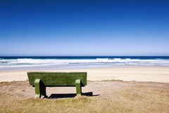 Bench with Ocean View Royalty Free Stock Photos