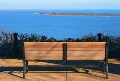 Bench and Ocean View Stock Photos