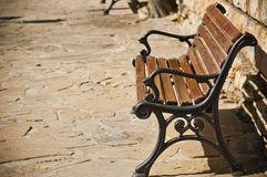 Bench in old town Royalty Free Stock Photos