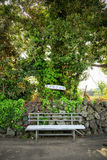A bench in the Olle trail No. 2 Royalty Free Stock Photo