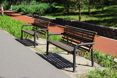 Bench in Olympic Green Stock Photos