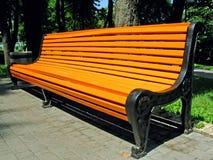 bench orangen Royaltyfri Bild