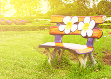 Bench in the outdoor Stock Photo