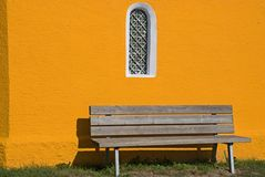 Free Bench Outside Colorful Chapel Stock Photography - 7019212