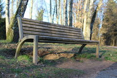 Bench. Outside in the forest Stock Images
