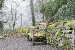 Bench overlooking Clovelly Royalty Free Stock Photography