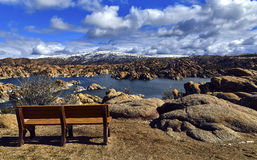 Bench overlooking a Lake Royalty Free Stock Image