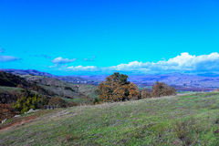Bench overlooking Silicon Valley CA view Royalty Free Stock Photography