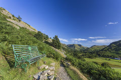 Bench overlooking Ullswater Stock Images