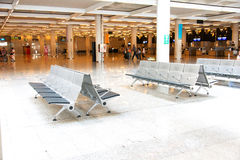 Bench at Palma de Mallorca Airport Royalty Free Stock Image