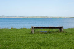 Bench with panoramic view Stock Photo