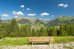 Bench with panoramic view Stock Photos