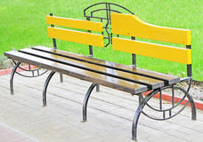 Bench in the park. Beautiful bench in the park Stock Photo