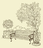 Bench in the park Royalty Free Stock Photo