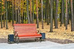 Bench in a park. Bench in an autumn park Stock Photo