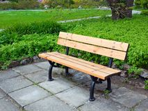 Bench in park Royalty Free Stock Photography