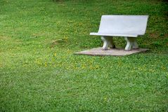 Bench In A Park stock photography